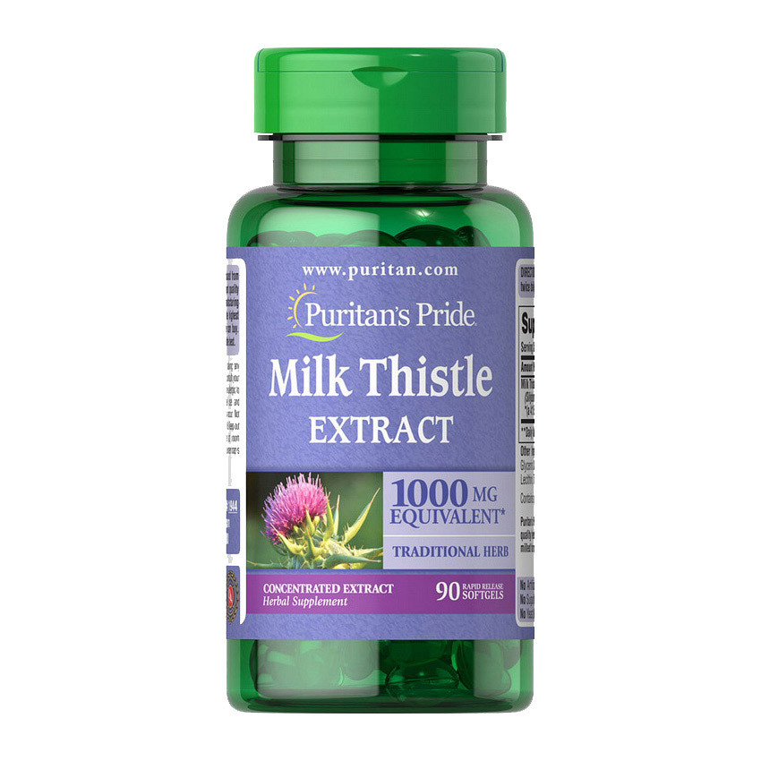 Milk Thistle Extract 1000 mg (90 softgels) Puritan's Pride