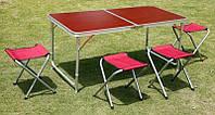 Складной столик со стульями для пикника, фото 1