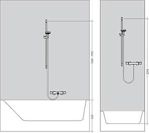 Unica Crometta Штанга для душа, 0,65 м, фото 2