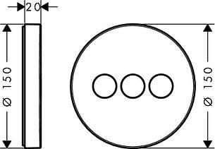 ShowerSelect S Запорный вентиль для 3 потребителей, СМ, фото 2