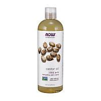 Касторовое масло семян Ricinus communis Now Foods Castor Oil (473 ml, pure)