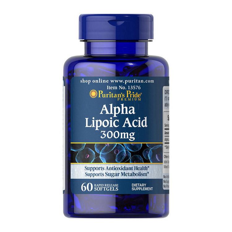 Alpha Lipoic Acid 300 mg (60 softgels) Puritan's Pride