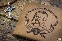 Мужской кожаный кошелек ТатуНаКоже, козак, фото 1
