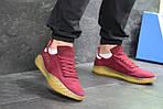 Чоловічі кросівки Adidas Kamanda (бордові), фото 3