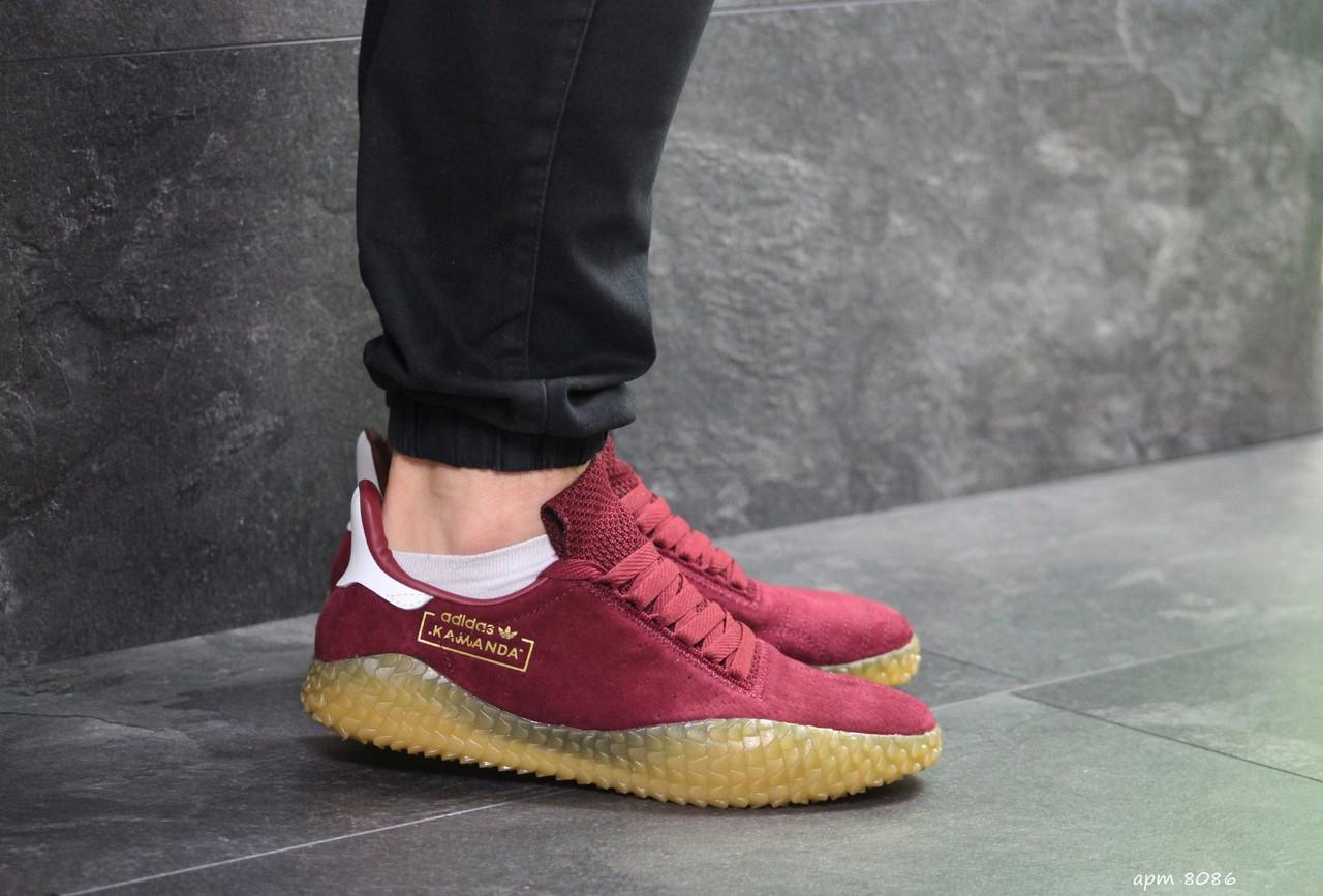 Чоловічі кросівки Adidas Kamanda (бордові)