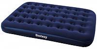 Велюр матрац 2-х спальный Best Way 67002 синий, 191-137-22см