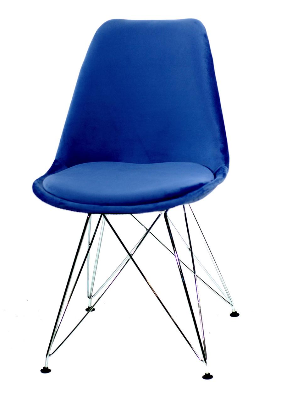 Стул Milan Soft Chrom, синий