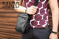 Мужская кожаная сумка mod.BlackDay через плечо, фото 1