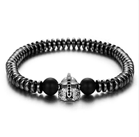 Мужской каменный браслет Spartan серый