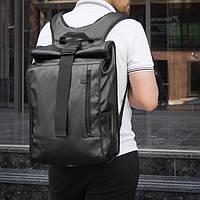 Роллтоп рюкзак кожаный WLKR BAD