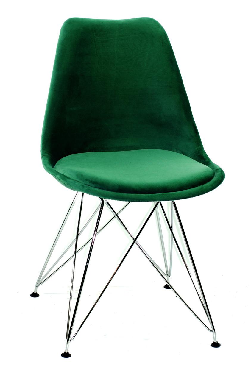 Стілець Milan Soft Срібний, зелений