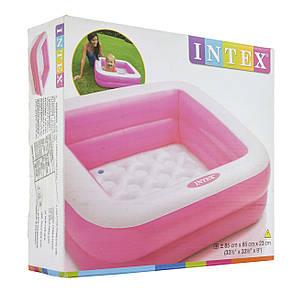Intex Бассейн 57100 розовый 85х85х23см, фото 2