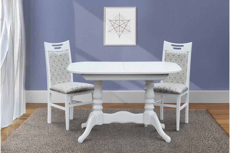 Стол обеденный, деревянный -Шервуд. ( белый, слоновая кость)
