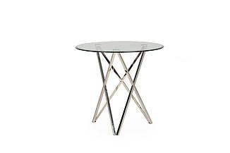 Стеклянный стол Т-316 D80 от Vetro Mebel, ноги хром