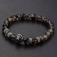 Мужской каменный браслет mod.Lion Terra brown