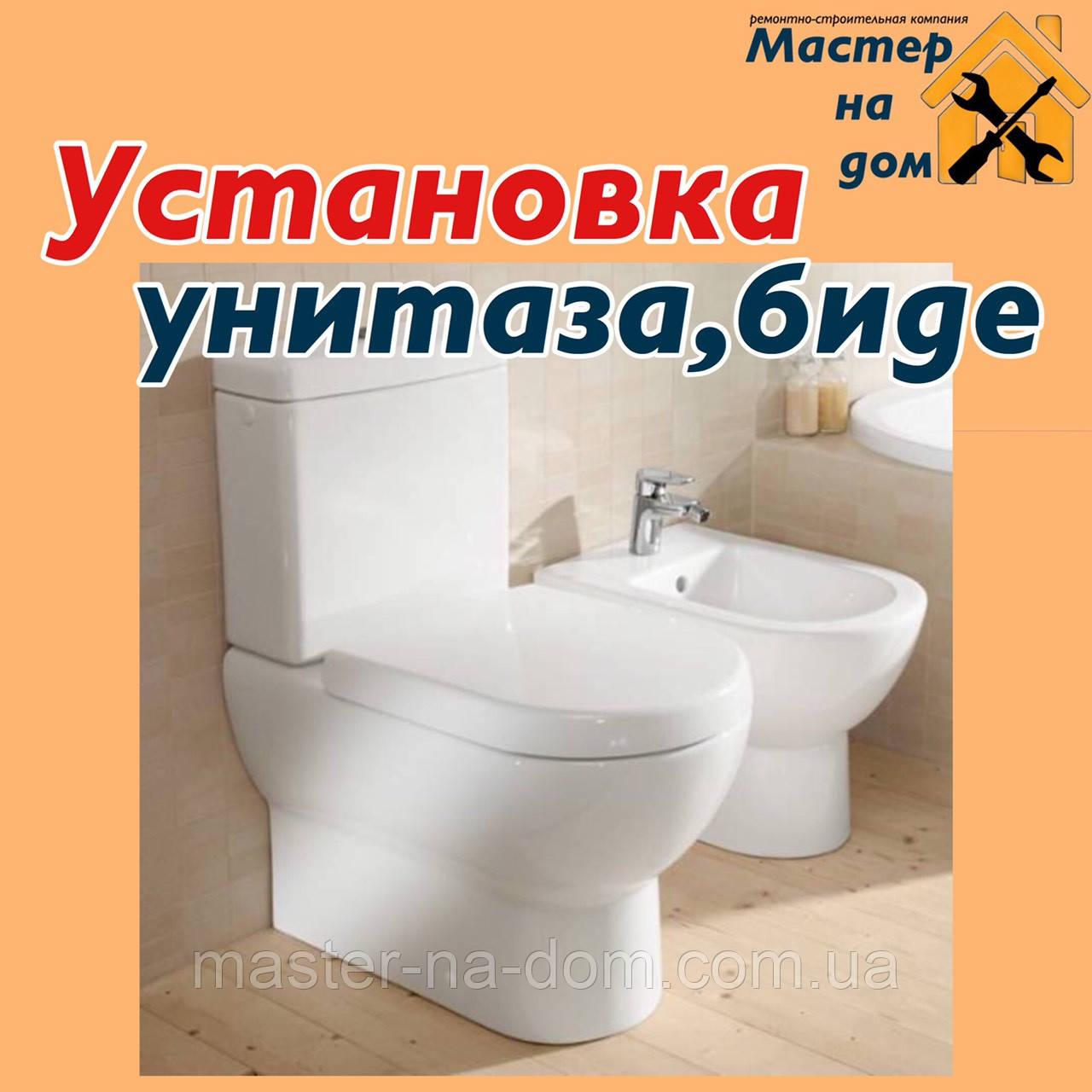 Монтаж унитаза и биде в Запорожье, фото 1