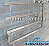 Дизайнерский полотенцесушитель Phyton 7 / 510х800 из квадратной трубы 30х30. Нерж. сталь. Проточный, фото 2