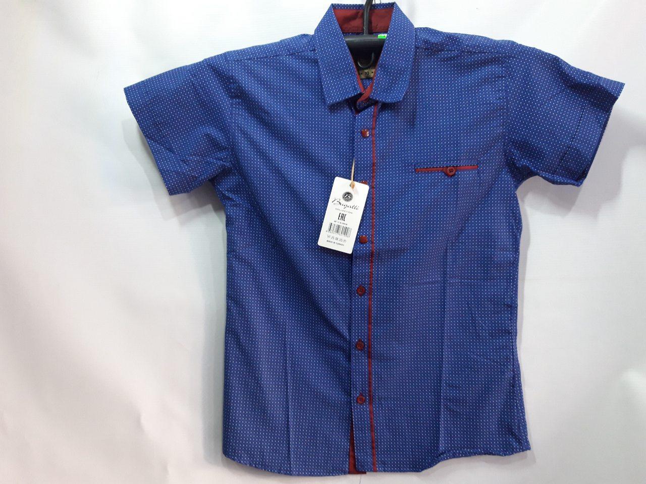 Рубашка для мальчика с коротким рукавом р. 7-12 лет опт