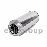 Димохідна труба з нержавіючої сталі AISI 304 в оцинкованому кожусі товщина сталі 0,8мм довжина 0.25м діаметр внутрішній 250 зовнішній 350