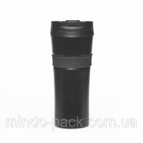 Термокружка Starbucks с резиновой полоской (черный)