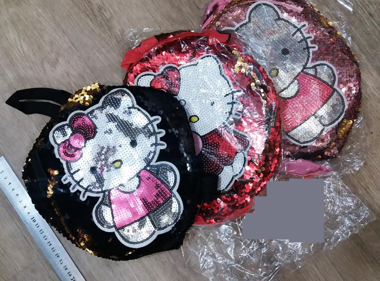 """Детский рюкзак """"Kitty"""" с пайетками"""