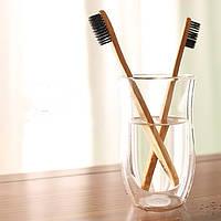 Бамбуковая Зубная щетка оригинальный подарок прикольный