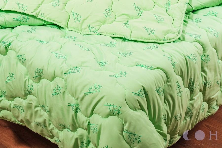 Одеяло Бамбук стеганное всесезонное 150х220, полуторный