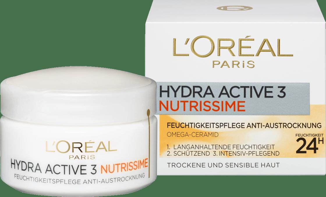 Дневной крем для лица L'ORÉAL PARIS Hydra Active 3 Nutrissime, 50 мл.