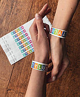 Контрольные бумажные браслеты с полноцветной печатью