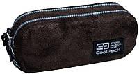 Пенал школьный CoolPack EDGE B69080, коричневый