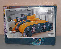 Комплект постельного белья евро размер мягкий Classic сатин (F-581)