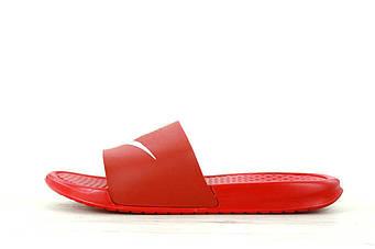 """Мужские тапки Nike Sleepers """"Red""""  (люкс копия)"""