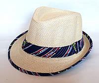 """Шляпа """"Челентанка"""", гламурная полоска (52 см)"""