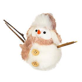 """Подвеска на ёлку """"Снеговик с ветками"""" (10*8 см), 006NM"""