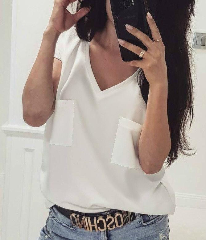 Блузка летняя с коротким рукавом