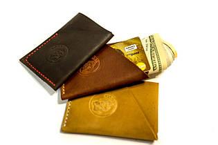 Шкіряний гаманець Твіст коричневий