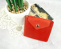 Стильний червоний гаманець зі шкіри Рута, фото 1