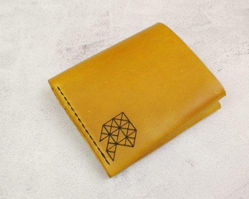 Ергономічний гаманець з натуральної шкіри Хорунжий жовтий