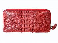 Мужской кошелек из кожи Крокодила 19,5x10x2,5 см 1020. ZAM 11 T Red, фото 1