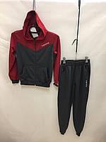 """Спортивный костюм детский для мальчика""""Supreme"""" от 6 до 10 лет,серый с бордовым"""