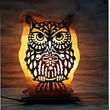 Соляна лампа Сова велика , фото 5
