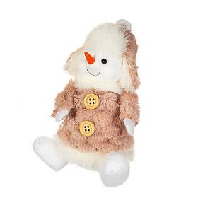 "Фигурка ""Снеговик в шапке бежевый"" (13*7 см), 005NM"
