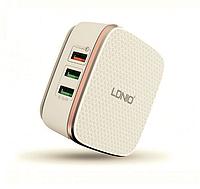 Мощное зарядное устройство LDNIO A6704 на 6 выходов USB, Max ток 7А + Qualcomm 2.0 Quick Charge, фото 1