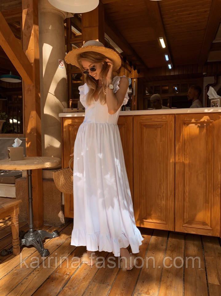 Женское платье в пол с вырезом на спине (в расцветках)