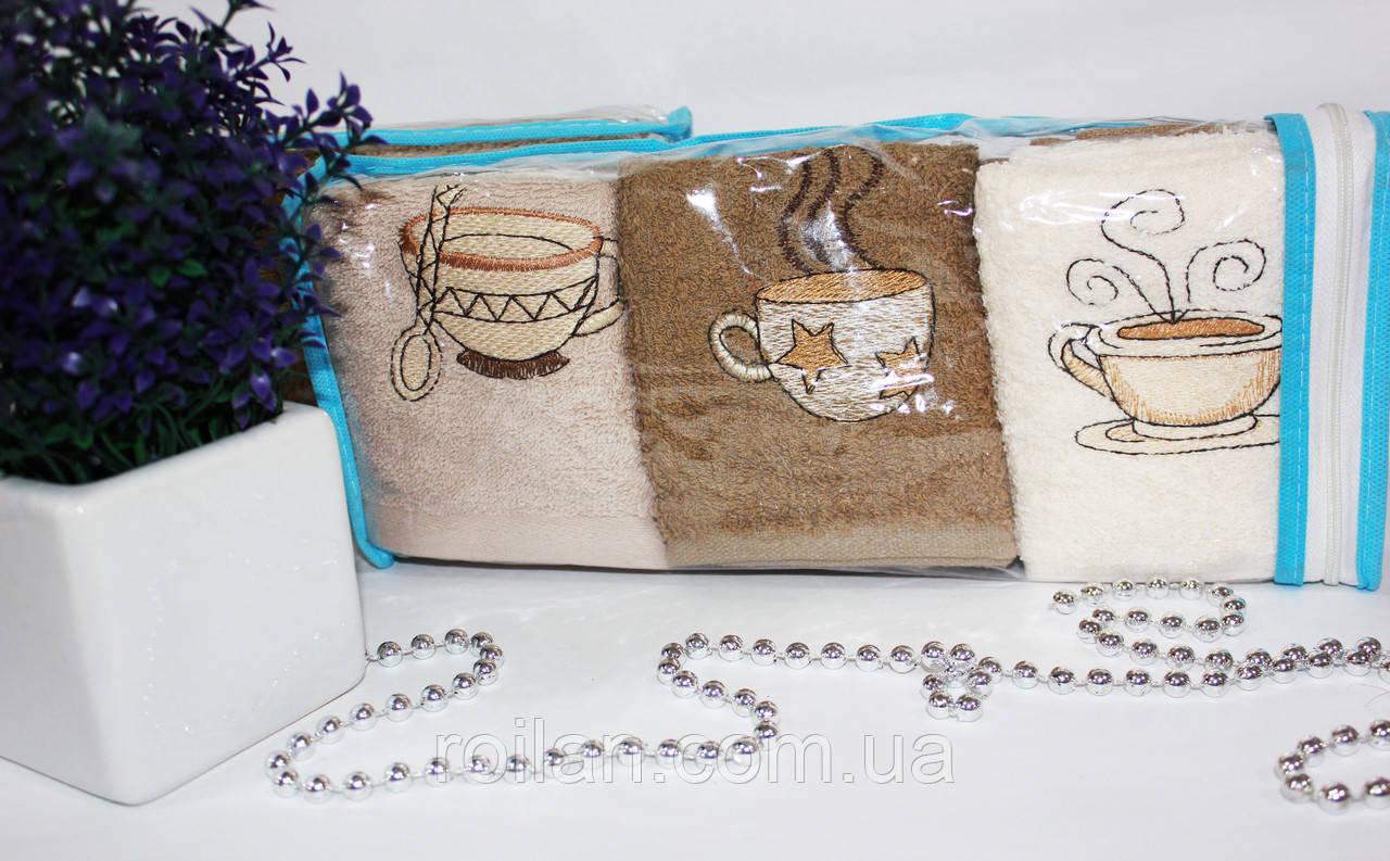 Набор турецких кухонных полотенец Кофе сумочка
