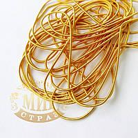 Канитель мягкая, цвет Светлое золото матовое, диаметр 1мм*5 грамм