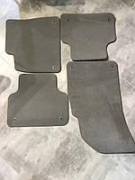 Комплект серых велюровых текстильных ковриков Audi Q7 4M1863011C 4M1863719B, фото 1