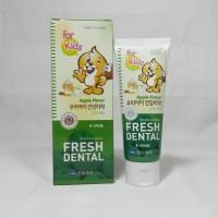 Зубная паста для детей For Kids Nano с серебром, кальцием, витаминами и экстрактами фруктов Яблоко, 80 г