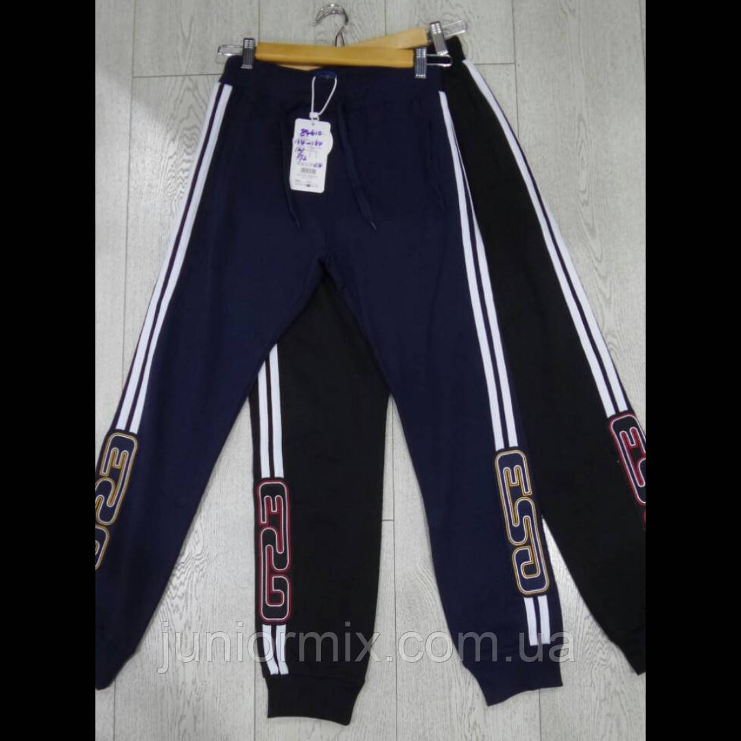 Подростковые трикотажные спортивные штаны для мальчиков оптом GRACE  134---164см