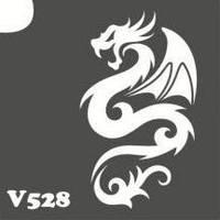 Трафарет № 528 - дракон